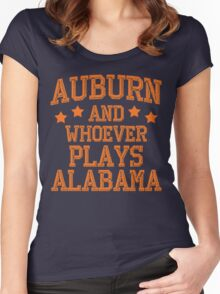 Auburn and Whoever Plays Alabama Women's Fitted Scoop T-Shirt