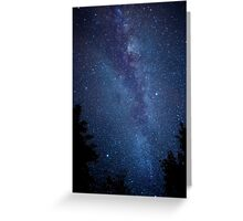 Milky Way Galaxy Time Lapse Greeting Card
