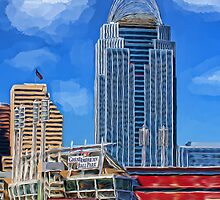 Cincinnati and the Great American Ballpark by Brandon Batie