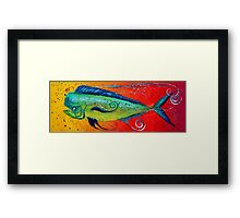 MAHI MAHI, Colorful, FUN, Abstract Fish Art Original Design from J. Vincent, MUST SEE, BEAUTIFUL Framed Print