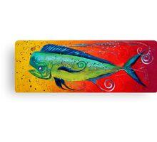MAHI MAHI, Colorful, FUN, Abstract Fish Art Original Design from J. Vincent, MUST SEE, BEAUTIFUL Canvas Print
