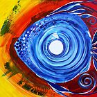 Gorgeous Abstract FISH ART Original Design from J. Vincent, MUST SEE by 17easels