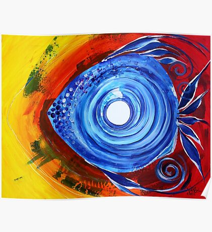 Gorgeous Abstract FISH ART Original Design from J. Vincent, MUST SEE Poster