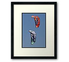 Twin Kites Framed Print