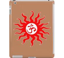 ohm mantra om yoga indian symbol sun iPad Case/Skin