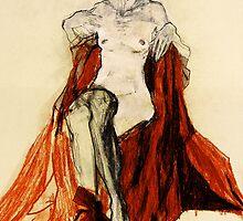 Hommage à Schiele IV by Ute Rathmann