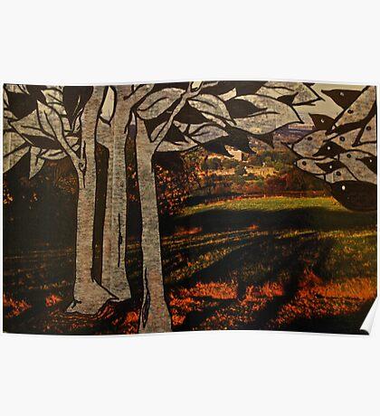 paper trees & pod birds  Poster