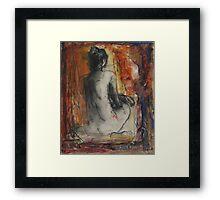 Lady Red Framed Print