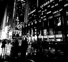 Rainy Times Square by photographist