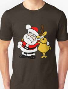 Christmas Day By Santa And Deer Unisex T-Shirt