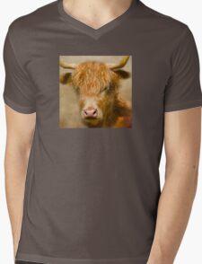 Dozy Highlander Mens V-Neck T-Shirt