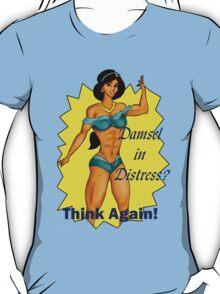 Jasmine Damsel in Distress with Text T-Shirt