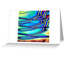 Flying Birds- Unique Abstract Art Greeting Card