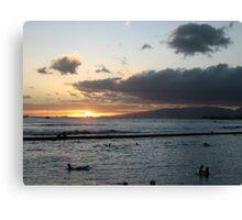 Sunset, North Shore Local Canvas Print