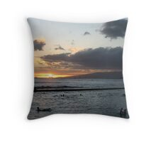 Sunset, North Shore Local Throw Pillow