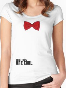 Bow Ties are Cool!  Women's Fitted Scoop T-Shirt