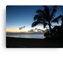 North Shore at Dusk, Oahu Canvas Print