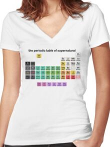 The Periodic Table Of Supernatural Women's Fitted V-Neck T-Shirt