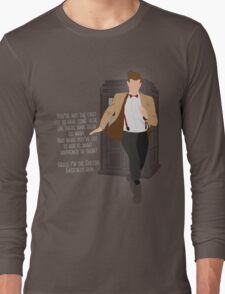 11th Doctor - Basically, Run! Quote Long Sleeve T-Shirt