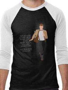 11th Doctor - Basically, Run! Quote Men's Baseball ¾ T-Shirt