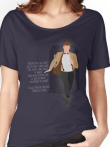 11th Doctor - Basically, Run! Quote Women's Relaxed Fit T-Shirt
