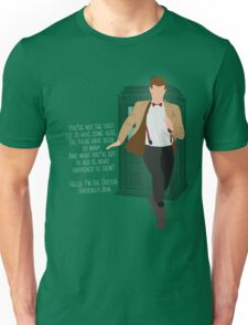 11th Doctor - Basically, Run! Quote Unisex T-Shirt