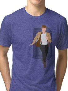11th Doctor - Basically, Run! Tri-blend T-Shirt