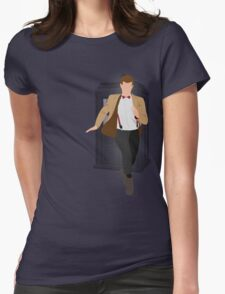 11th Doctor - Basically, Run! Womens Fitted T-Shirt