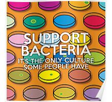SUPPORT BACTERIA Poster