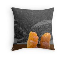 Honey Bears in Window Throw Pillow