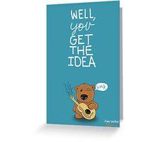 Valentine's Day Card (BEAR) Greeting Card