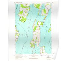 USGS Topo Map  Vermont VT North Hero 337563 1966 24000 Poster
