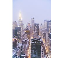 Winter Morning Overlooking the New York City Skyline Photographic Print