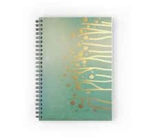 gold on clouds Spiral Notebook