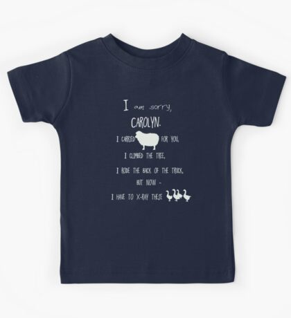 but now - I have to x-ray these geese! /on dark colours/ Kids Tee