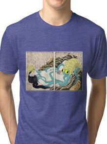 Diving Woman and Omastar Tri-blend T-Shirt