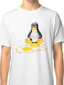 LINUX TUX PENGUIN TWINS SUNNYSIDE UP  Classic T-Shirt