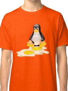 LINUX TUX PENGUIN TWINS SUNNYSIDE UP  Classic T-Shirt