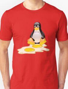 LINUX TUX PENGUIN TWINS SUNNYSIDE UP  Unisex T-Shirt