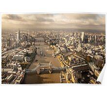 Aerial London looking westwards Poster