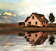 Peach House Reflection by Ann  Van Breemen
