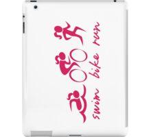 Swim Bike Run Girl (Pink) iPad Case/Skin
