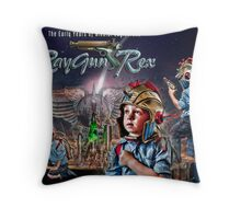 The Young RayGun Rex Throw Pillow