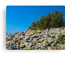 Rock Wall and Sky Canvas Print