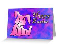 Pink Bunny Rabbit Greeting Card