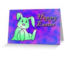 Green Bunny Rabbit Greeting Card