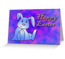 Blue Bunny Rabbit Greeting Card