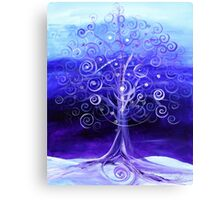 WINTER TREE, Abstract Tree Art, COLD, Beautiful Blues, Violets, NICE!! Must see!! Canvas Print