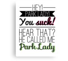 Parks and Recreation - Park Lady (Colour) Canvas Print