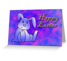 Lavender Bunny Rabbit Greeting Card